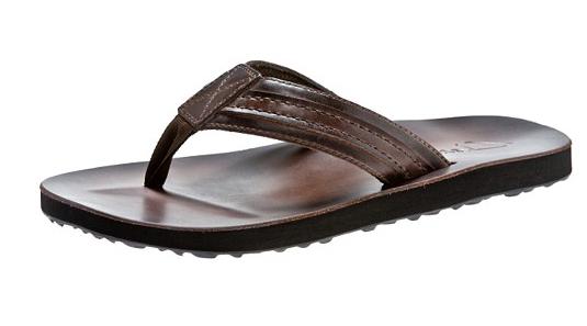 clarks mens leather flip flops